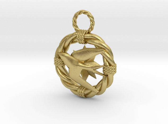 The mariner's pendant 3d printed