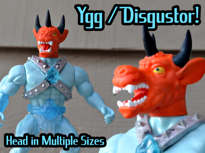 Ygg/Disgustor Head - Multisize 3d printed Hand painted white natural versatile plastic