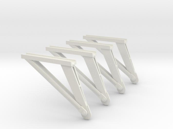 1:72 Scale S1B Struts 3d printed
