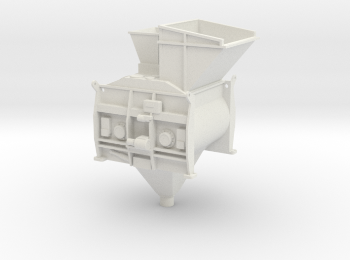1/50th Twin Mixer Drum Cement Batch Plant 3d printed