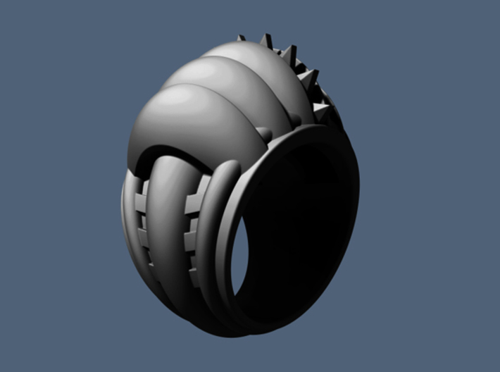 Rising Sun Ring - Size 13 (22.20 mm) 3d printed
