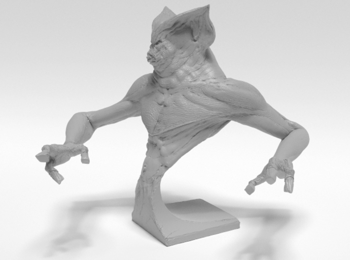 Deamon Bat Bust 3d printed Side render of 3d model