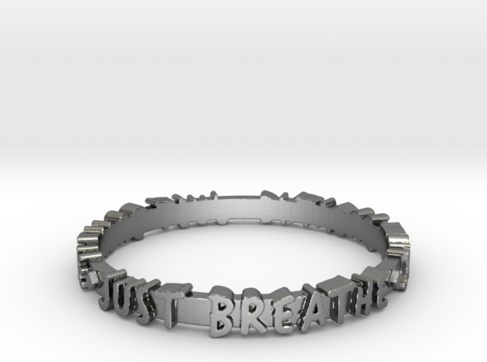 Just Breathe Ring (Multiple Sizes) 3d printed