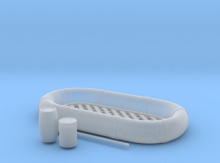 1/29 USN Life Raft Oval SET 3d printed