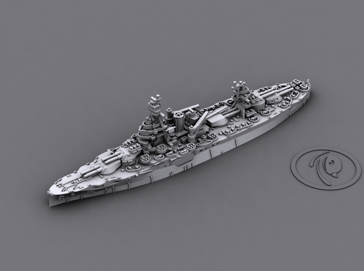 1/4800 US BB NY,TX + CA Wichita 3d printed BB35 Texas[1945]