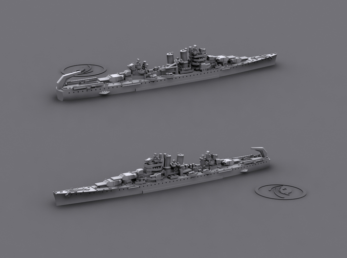 1/4800 US BB NY,TX + CA Wichita 3d printed CA45 Wichita[1942]