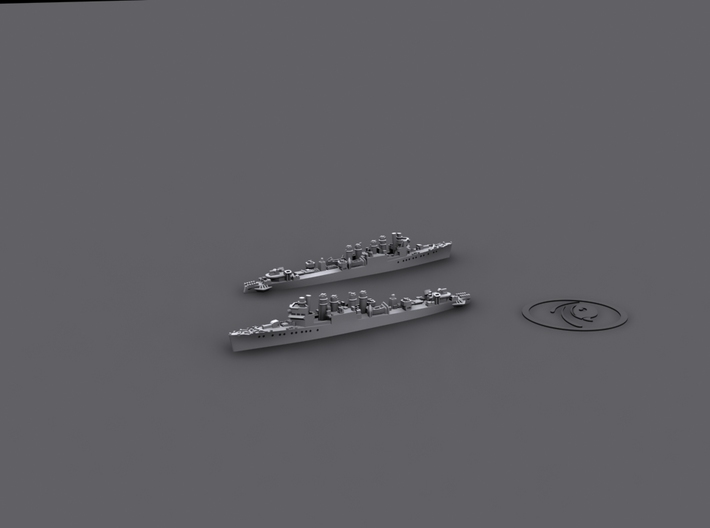 1/4800 UK Town-class DD [1943] (x6) 3d printed Lend-lease USN Clemson-Wickes destroyer [1943]