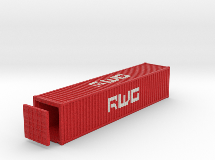 40 Foot Container DWG. HO Scale (1:87) 3d printed