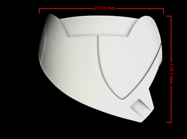 Iron Man Mark IV Shoulder Armor (Outer Right) 3d printed CG Render (Side Measurements)