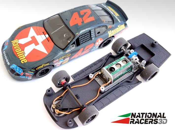 Chassis - SCX DODGE CHARGER 2006 (Combo) 3d printed Chassis compatible with SCX model (slot car and other parts not included)
