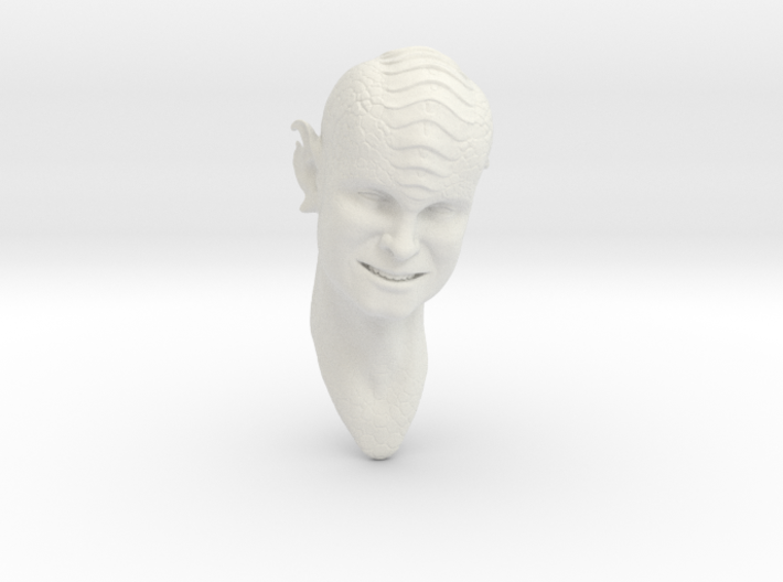 smiling blue alien 1/6 scale 3d printed