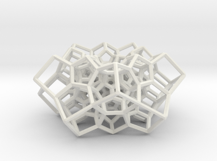 Partial 120-cell, torus-shaped 3d printed