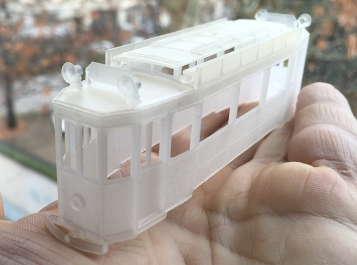 Nantes tramway (body only) - Ho 1:87 3d printed