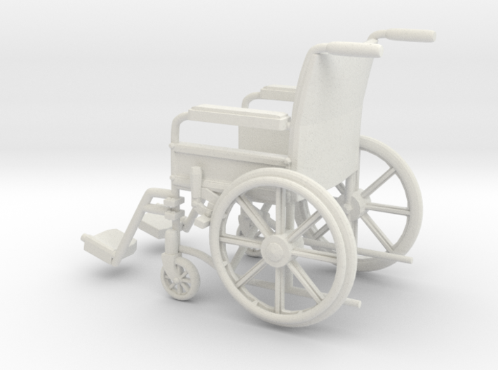 Wheelchair 01. 1:11 Scale 3d printed