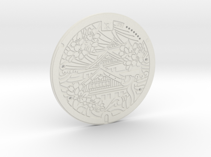 Manhole Project // 001 Osaka (Coaster) 3d printed