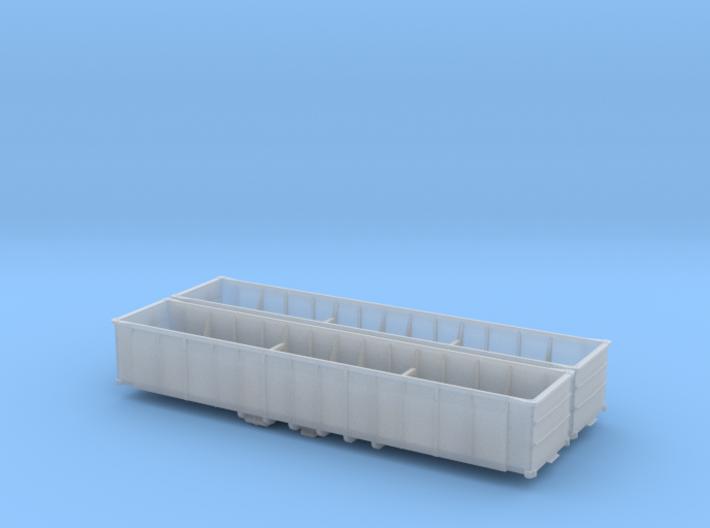 N scale Battleship Gondola X2 3d printed