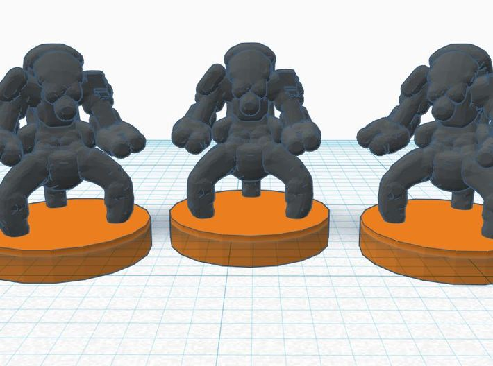 6mm Confederates Destroyer Bots X20 3d printed