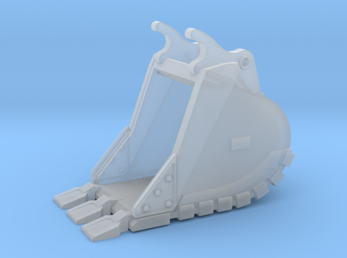 """1:50 36""""Trench bucket+Spade teeth for Cat 336D/E 3d printed"""