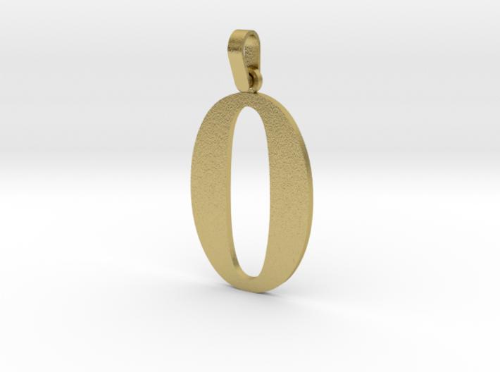 0 Number Pendant 3d printed