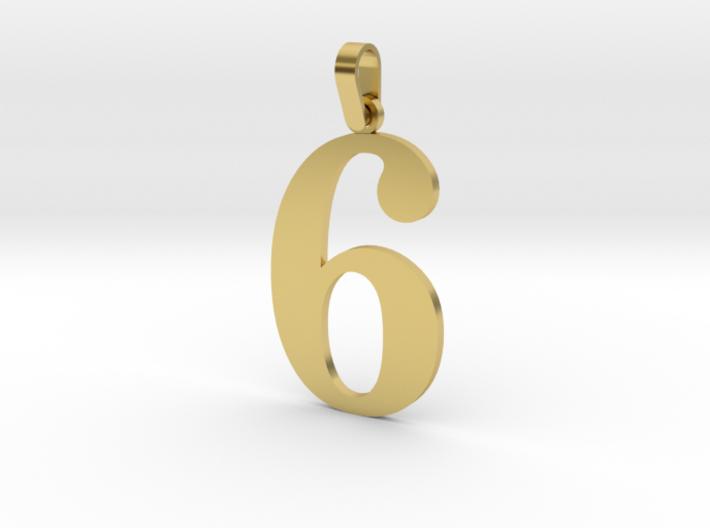 6 Number Pendant 3d printed