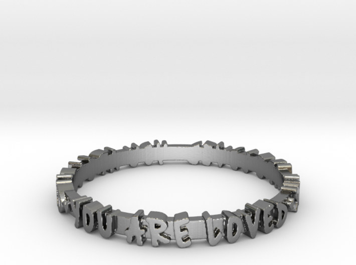 You Are Loved Ring (Multiple Sizes) 3d printed