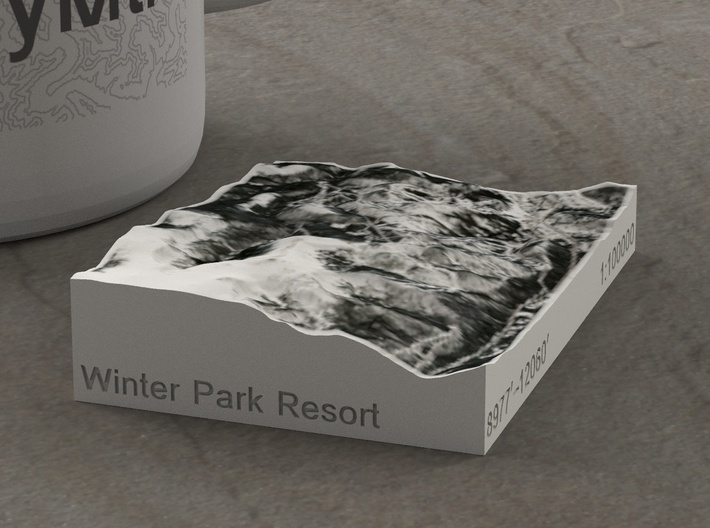 Winter Park Resort, Colorado, USA, 1:100000 3d printed
