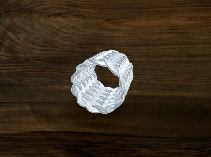 Turk's Head Knot Ring 11 Part X 11 Bight - Size 5. 3d printed