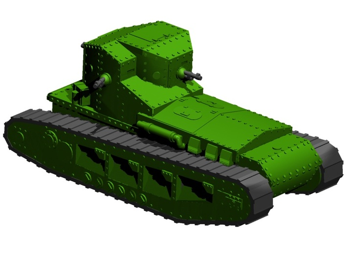 1/87 Mk.A Whippet tank (low detail) 3d printed