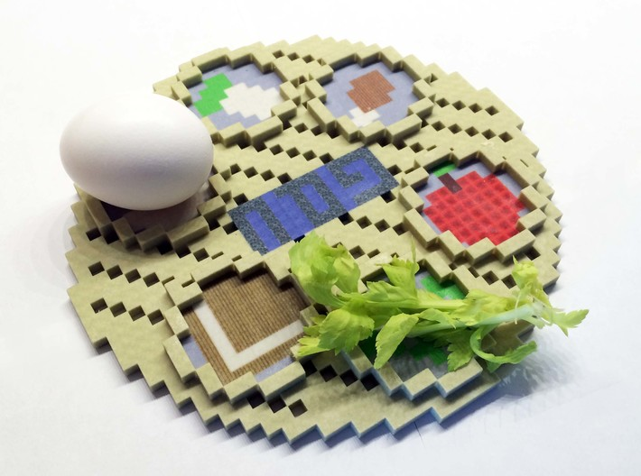 Minecraft Passover Plate 3d printed Add a caption...