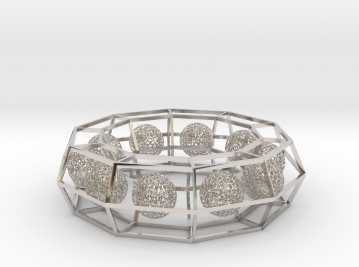 cage ring frame with voronoi ball size 10 (1) 3d printed