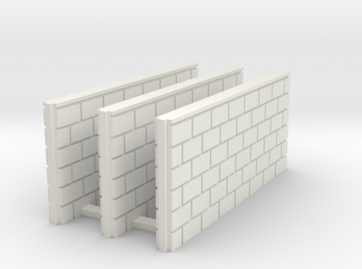 5' Block Wall - 3-Med Jointed Splices 3d printed BWJ-023