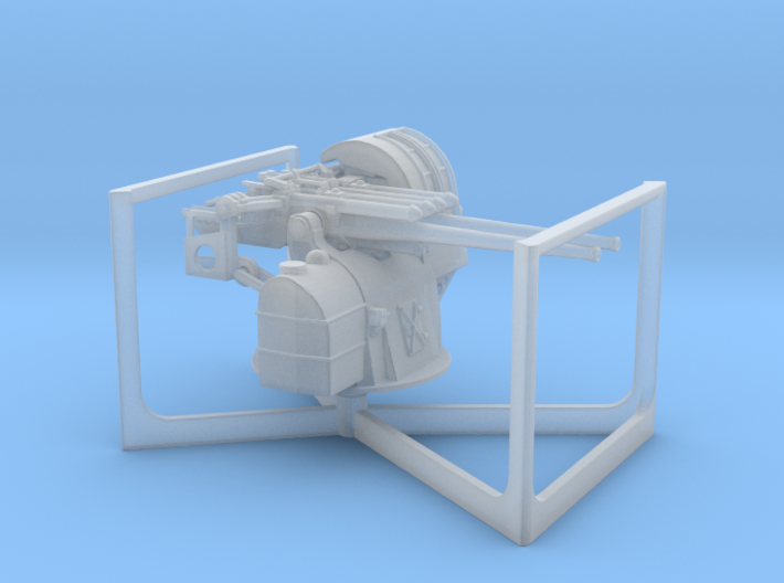 1:200 TYPE89 twin127mmAntiAircraftGun 3d printed