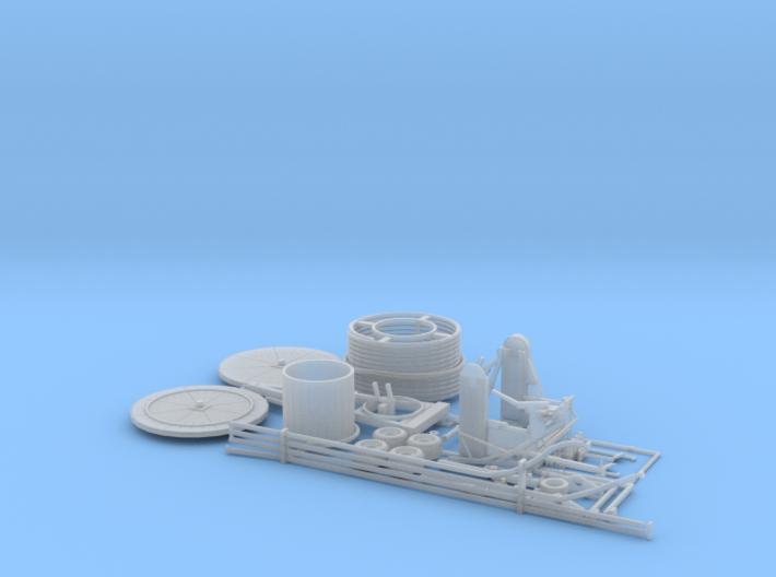 1:64 Hose reel irrigation system kit 3d printed