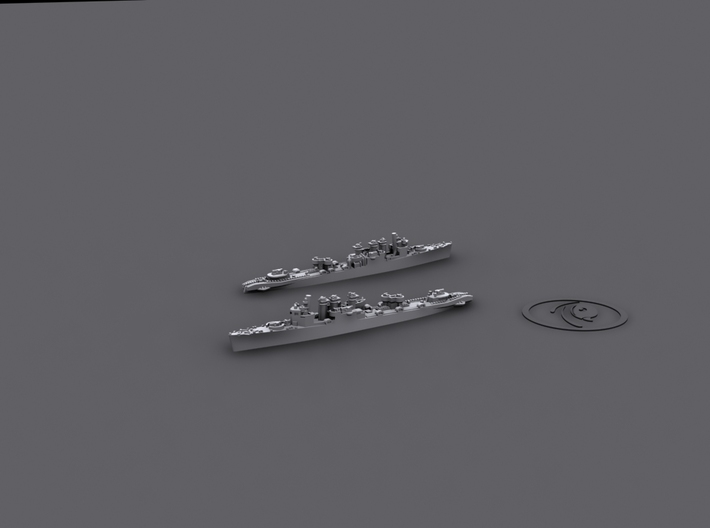 1/1800 Clemson-Wickes Auxiliaries* 3d printed Destroyer Minelayer
