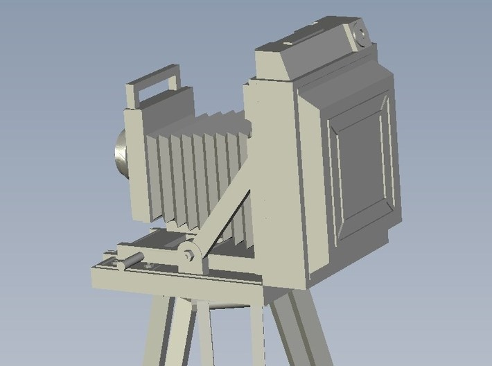 1/64 scale vintage camera with tripod x 3 3d printed