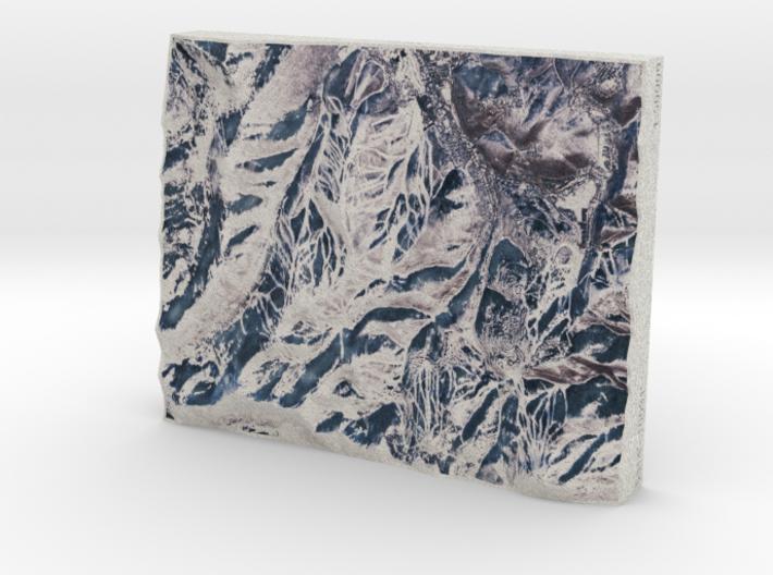 Park City/Deer Valley in Winter, Utah, 1:50000 3d printed