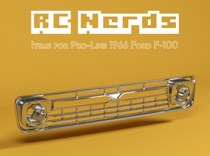 RCN201 Grill for Ford F100 1966 3d printed