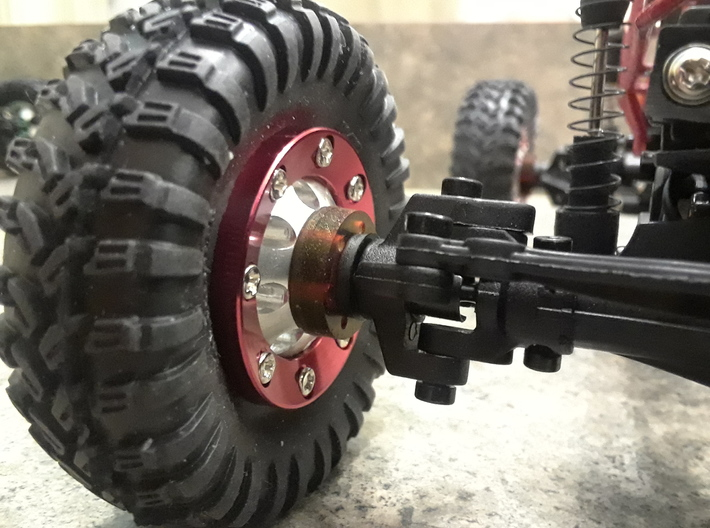 1.25 in WPL Beadlock Wheel Adapter  3d printed