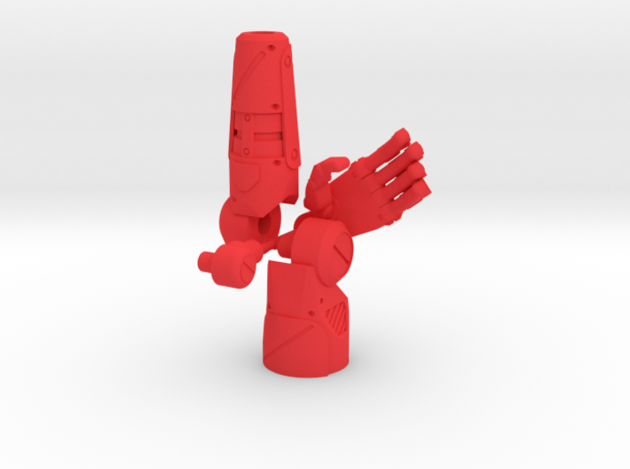 PRHI Solid Arm Complete Kit - Left with Open Hand 3d printed