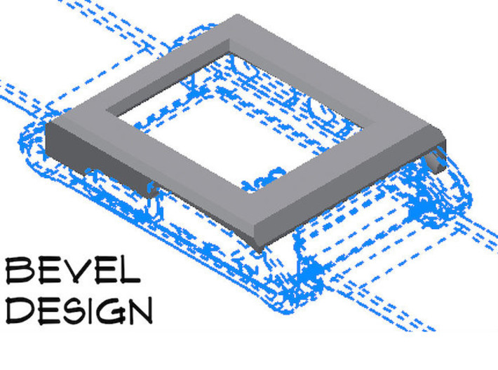 Pebble Watch Cover Bevel Design 3d printed