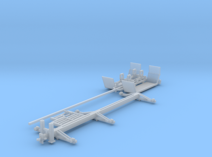 40 Foot Collapsed Utility Pole Trailer 1-87 HO Sca 3d printed