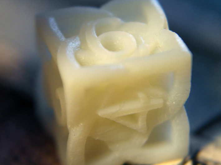 Celtic D6 - Solid Centre for Plastic 3d printed Printed in White Detail Plastic