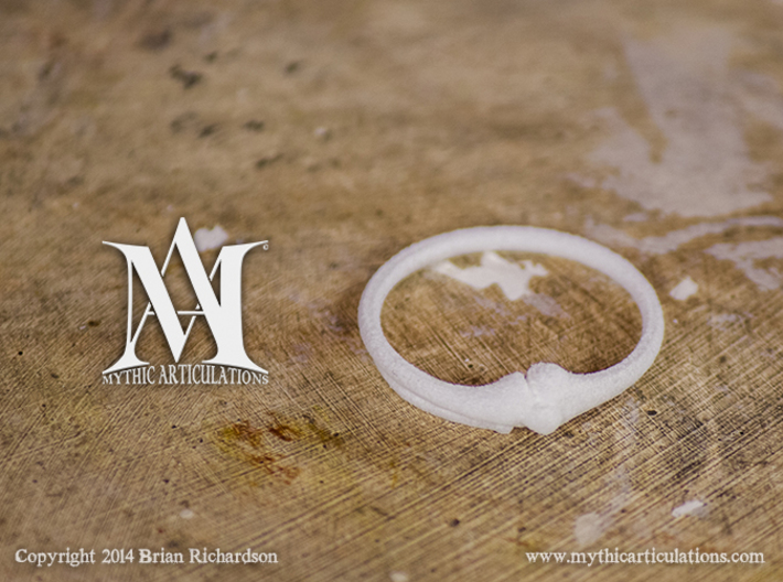 Leg Bones Ring Size 6 3d printed White Strong and Flexible