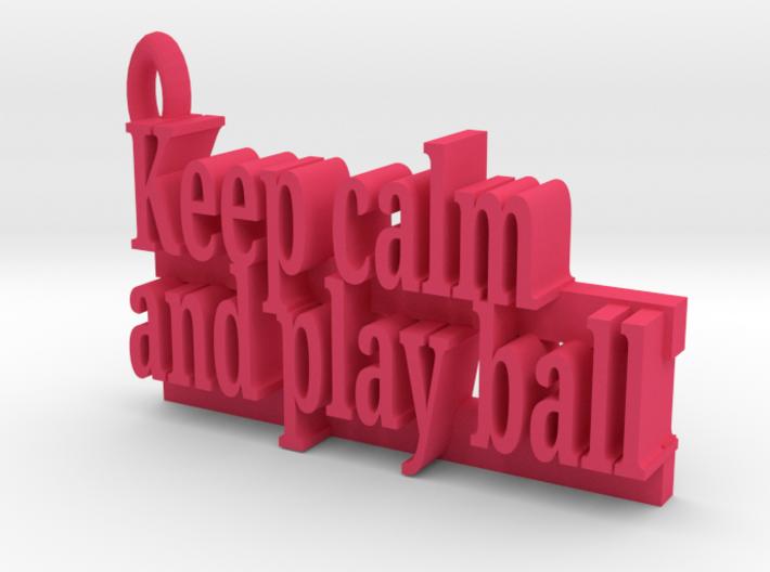 Play Ball Keychain 3d printed