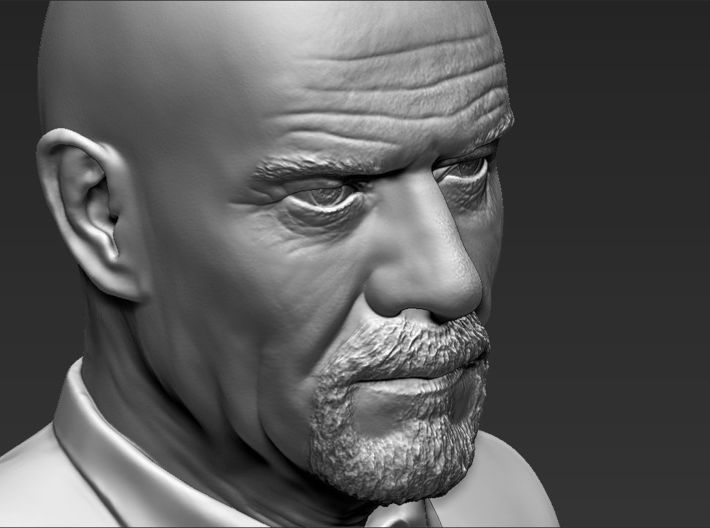 Walter White from Breaking Bad bust 3d printed