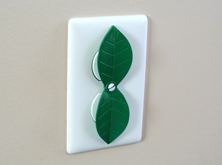 Leaf shaped outlet cover 3d printed