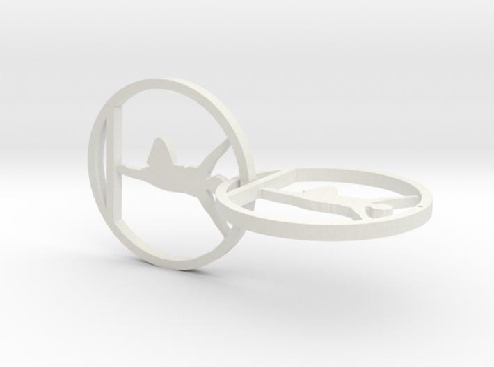 yoga jewelry - yoga earring 3d printed