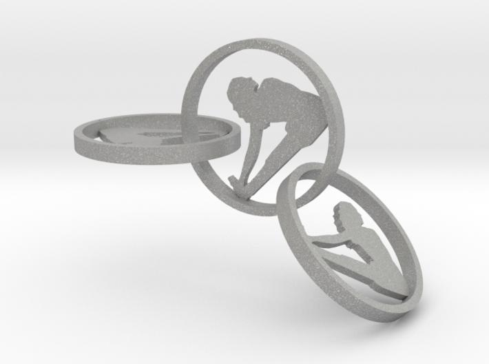 yoga jewelry - earring (1) 3d printed