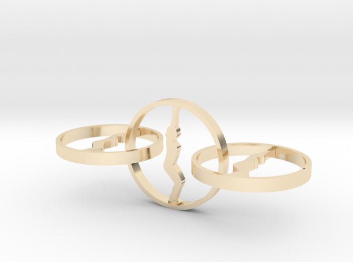 yoga jewelry - earring 3d printed