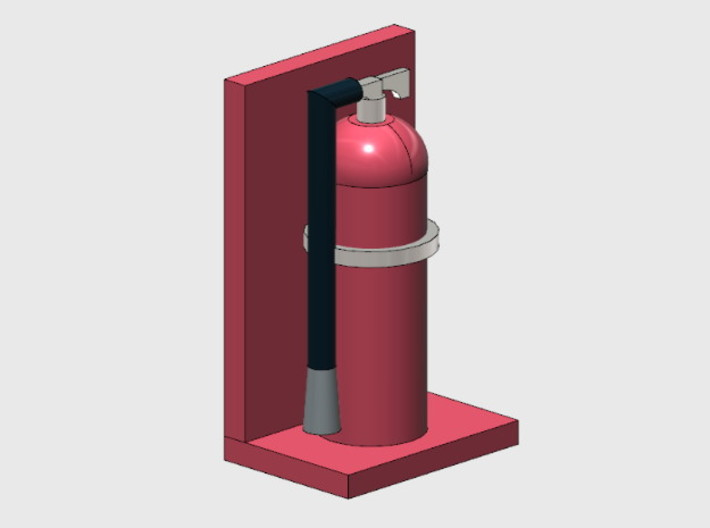 Fire Extinguishers (HO) 3d printed Part # FE-001